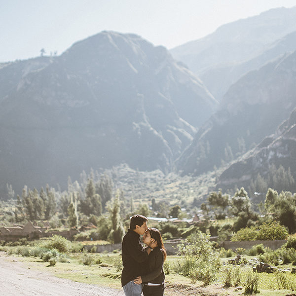 Engagement in Cotahuasi, one of the deepest canyon in the world Dani & Paulo